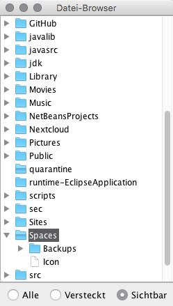 Fenster mit Dateibaum