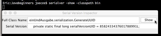 Serialver GUI