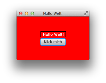 JavaFX Hello-World-Fenster