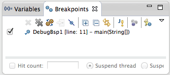 Breakpointfenster