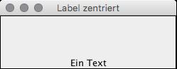 Zentrierter Text auf JLabel