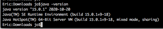 Kommandozeile mit Java Versionsangabe